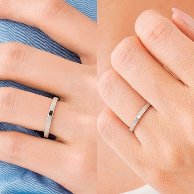【ORECCHIO(オレッキオ)】アダージョ~マットな仕上げのオリジナルシルキー仕上げでクールな印象の結婚指輪