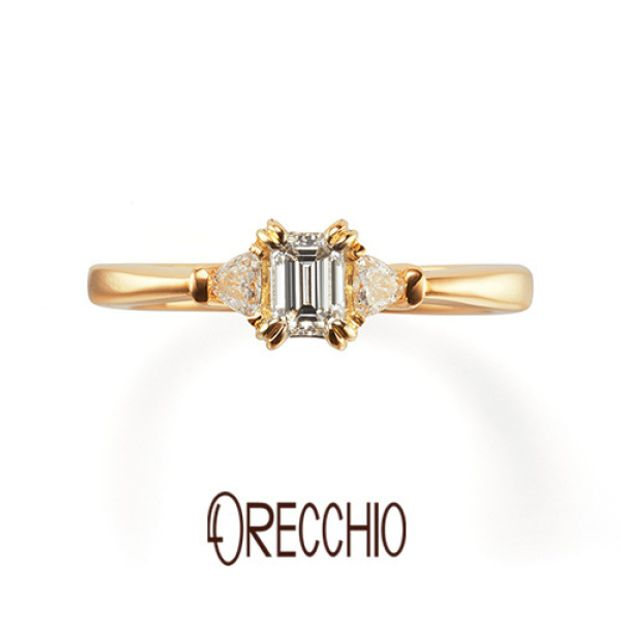 【ORECCHIO(オレッキオ)】<aman~アマン>婚約指輪 AE-1306