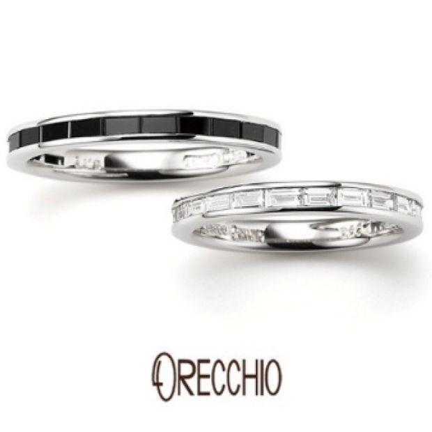 【ORECCHIO(オレッキオ)】<safari~サファリ>FM-2219/FM-2220 バゲットカットブラックダイヤのエタニティはオレッキオだけ!