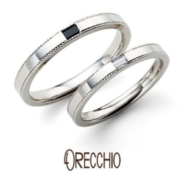 【ORECCHIO(オレッキオ)】<safari~サファリ>FM-2215/FM-2216上下のミル打ち×四角いダイヤでシンプルだけどスタイリッシュな指輪