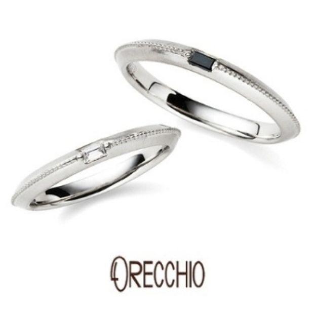 【ORECCHIO(オレッキオ)】<safari>センターのミル打ちラインがシャープでスタイリッシュな結婚指輪