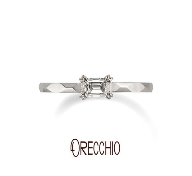 【ORECCHIO(オレッキオ)】<aman~アマン>婚約指輪 AE-1305