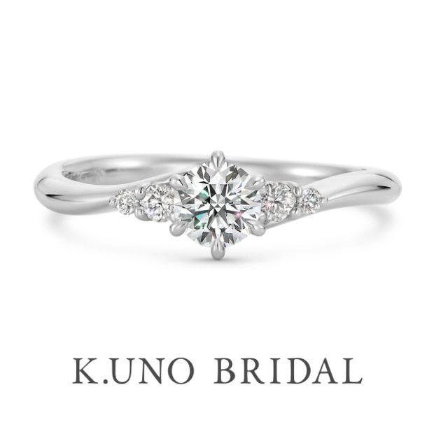 【ケイウノ ブライダル(K.UNO BRIDAL)】NEW【フィオリーレ】メレダイヤモンドをあしらった華やかなエンゲージリング