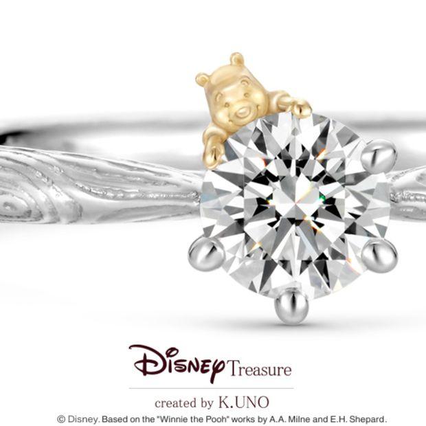 【ケイウノ ブライダル(K.UNO BRIDAL)】[Disney] くまのプーさん / エンゲージリング -Very Merry Forest-
