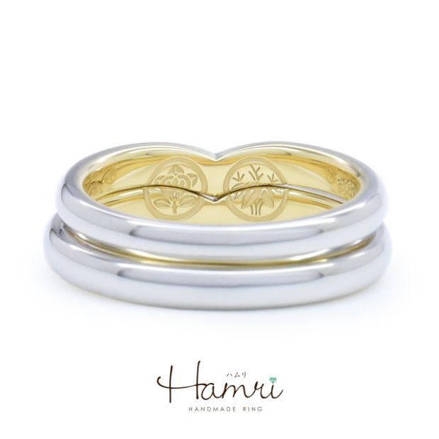 【Hamri(ハムリ)】個性的な家紋の手作り結婚指輪