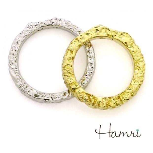 【Hamri(ハムリ)】指紋のマリッジリング
