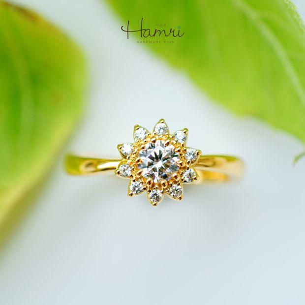 【Hamri(ハムリ)】向日葵の手作り婚約指輪
