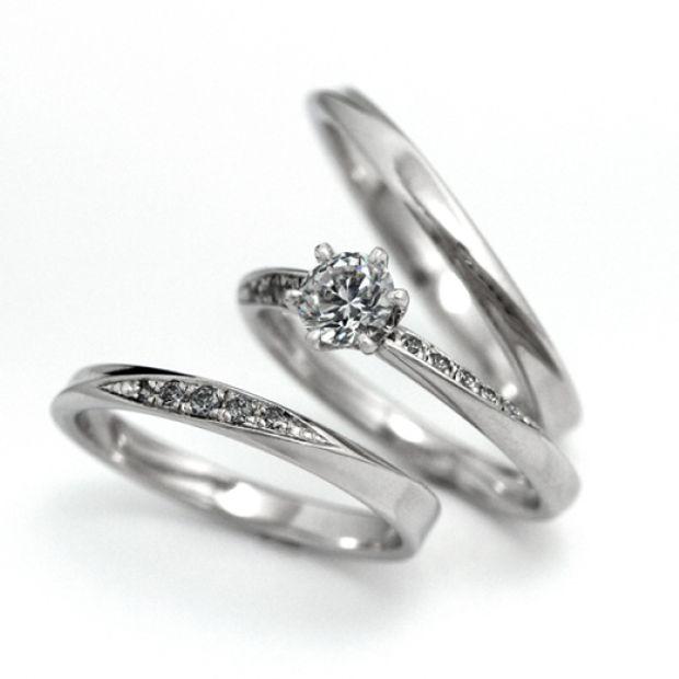 【宝寿堂(ほうじゅどう)】【宝寿堂】上から見ても、横から見てもダイヤモンドが見えるセットリング。