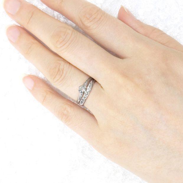【宝寿堂(ほうじゅどう)】【宝寿堂】柔らかな曲線に沿ったダイヤが華やか《HM564s/HD564s》