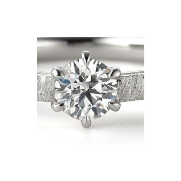 【garden(ガーデン)】アダージョ~オリジナルシルキー仕上げでマットでシンプルな婚約指輪