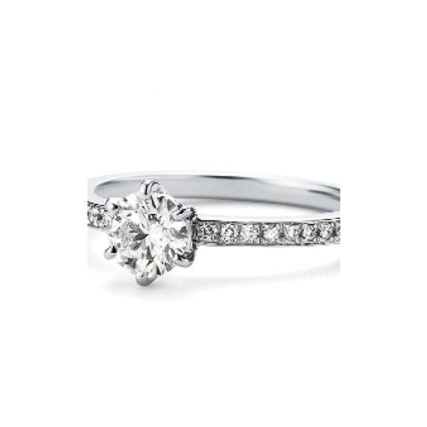 【garden(ガーデン)】<pipi>婚約指輪 細いアームにメレダイヤを並べてシンプルなデザインも華やかに