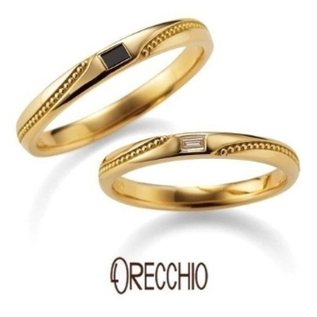 【garden(ガーデン)】フランキンセンス~ミル打ちの曲線とバゲットダイヤが光る着け心地の良い結婚指輪