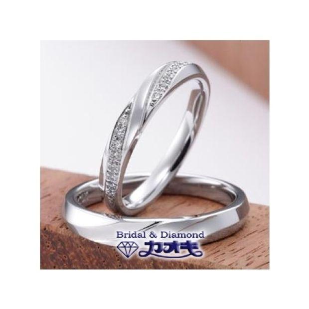 【カオキ ダイヤモンド専門卸直営店】らせん状の流れが指にベストマッチ【スイカズラ】~愛の絆~