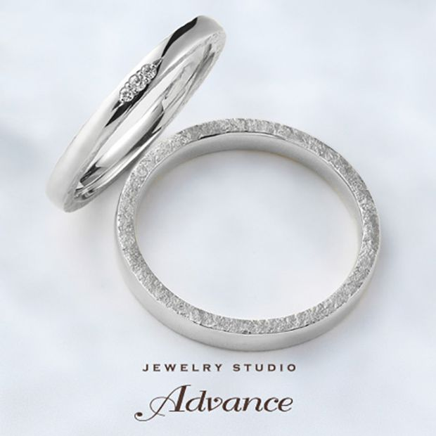【JEWELRY STUDIO Advance(ジュエリースタジオアドバンス)】【Advance】鍛造シリーズ『リング側面の鎚目加工もこだわり』