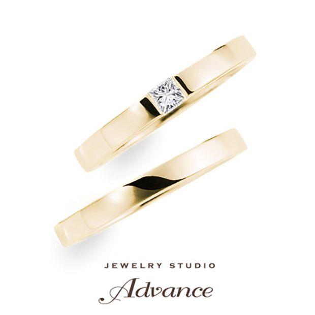 【JEWELRY STUDIO Advance(ジュエリースタジオアドバンス)】【Advance】Linden(リンデン)『珍しいカットのダイヤがポイント』