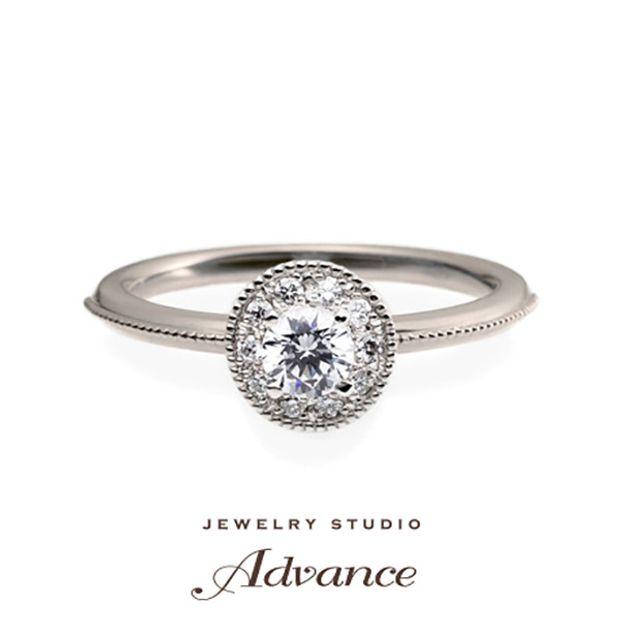 【JEWELRY STUDIO Advance(ジュエリースタジオアドバンス)】【Advance】Parfait (パルフェ)『ミルが印象的な華やかなリング』