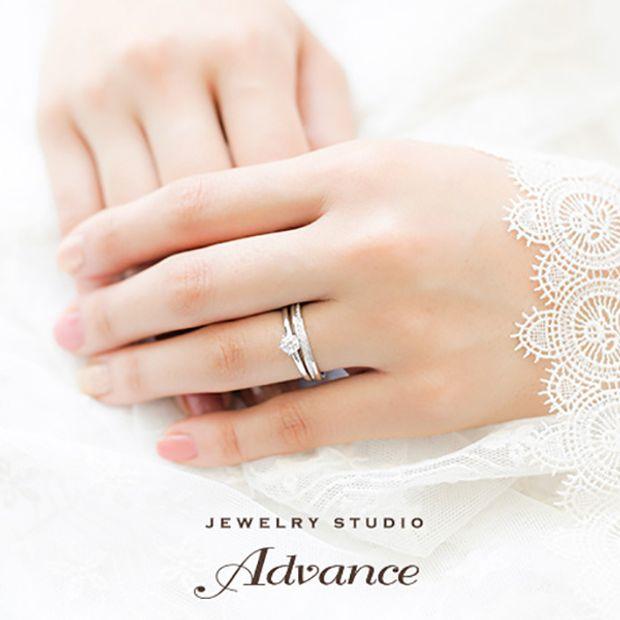 【JEWELRY STUDIO Advance(ジュエリースタジオアドバンス)】【Advance】Arch(アーチ)『華奢さと華やかさを兼ね備えたリング』
