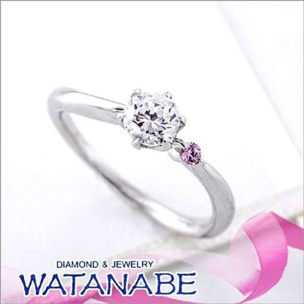 【WATANABE / 卸商社直営 渡辺】[WATANABE]ピンクハーモニー 天然ピンクダイヤをあしらったシリーズ