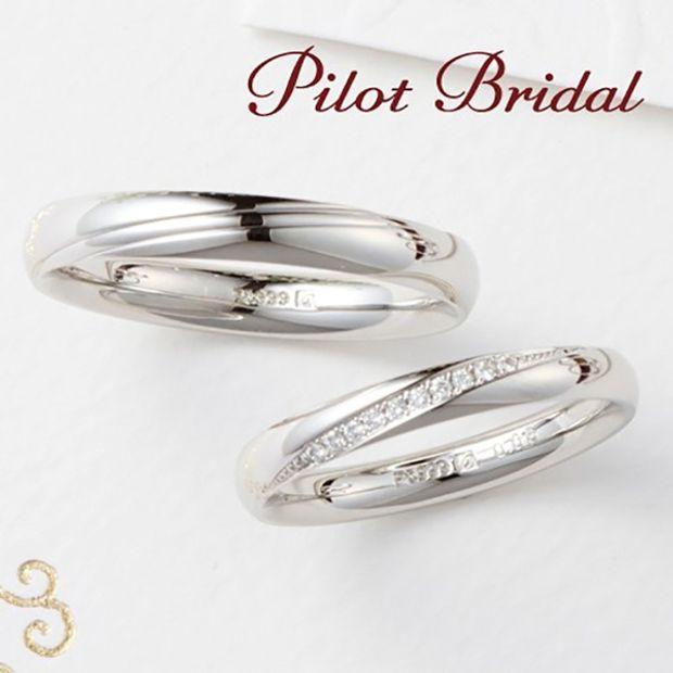 【PILOT BRIDAL(パイロットブライダル)】斜めに入った流線は指先を細く長く見せる効果あり〈Promise〉