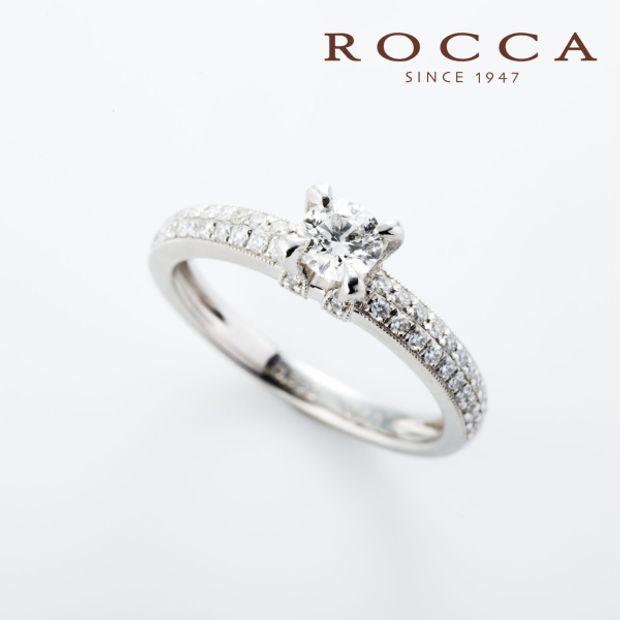 【ROCCA(ロッカ)】【ROCCA】スタイリッシュにかっこよく!パヴェのエンゲージリング