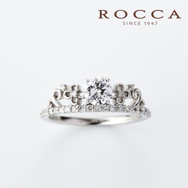 【ROCCA(ロッカ)】【ROCCA】お花のデザインが可愛い!ティアラのようなエンゲージリング