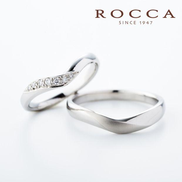 【ROCCA(ロッカ)】【ROCCA】ラインの綺麗なシンプルなV字リング!重ね付けにも