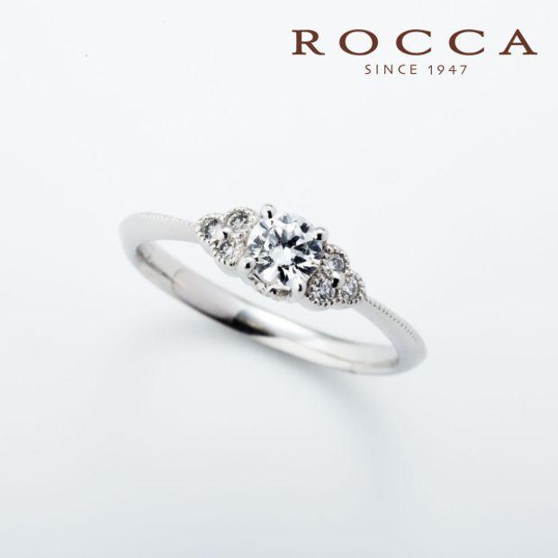 【ROCCA(ロッカ)】【ROCCA】さりげないミル打ちが可愛いエンゲージリング
