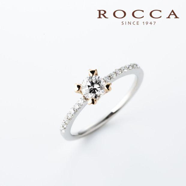 【ROCCA(ロッカ)】【ROCCA】さりげないピンクゴールドとハートの爪が可愛いエンゲージリング
