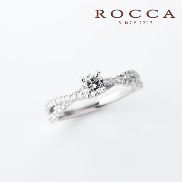 【ROCCA(ロッカ)】【ROCCA】クロスに輝くダイヤモンド!クールなエンゲージリング