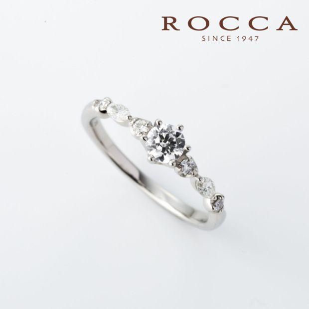 【ROCCA(ロッカ)】【ROCCA】重ね付けにもぴったり!可愛らしいエンゲージリング