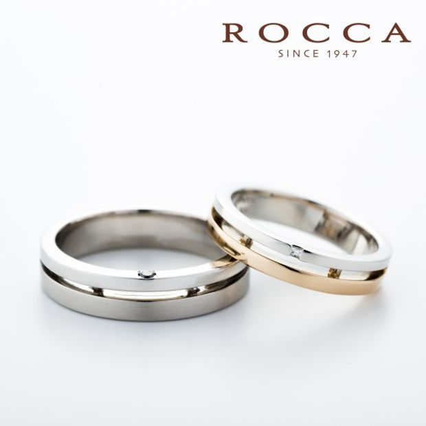 【ROCCA(ロッカ)】【ROCCA】さりげないピンクゴールドがおしゃれ!コンビのマリッジリング
