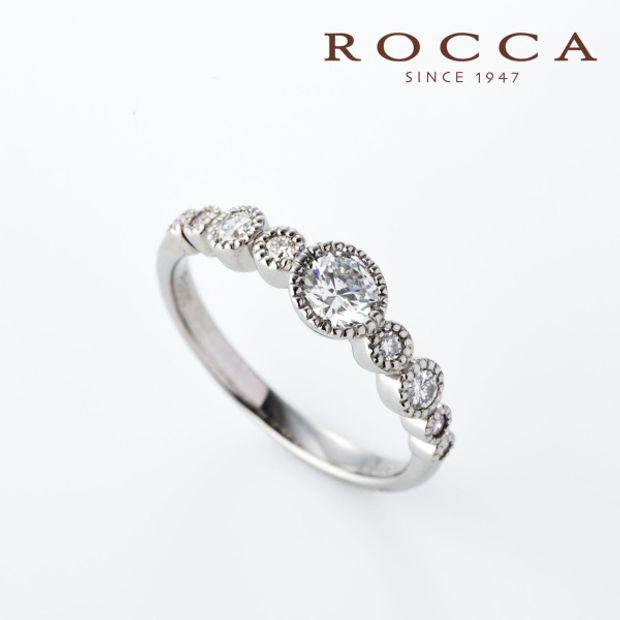 【ROCCA(ロッカ)】【ROCCA】フクリン留めで引っかかりにくい!普段使いしやすいエンゲージリング