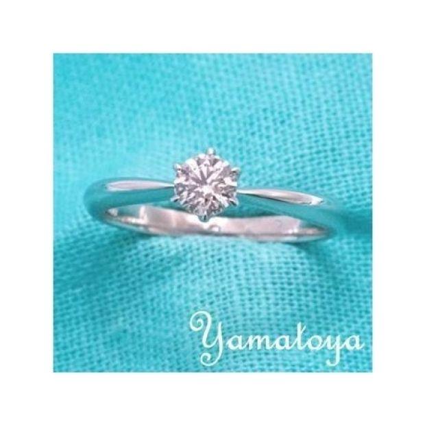 【yamatoya(ヤマトヤ)】0.3ct・Dカラーの高品質ダイヤ★ダイヤの輝きが引き立つシンプルな婚約指輪