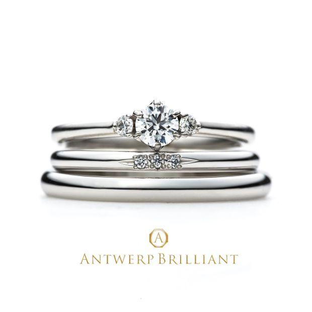 """【BROOCH(ブローチ)】""""Asterism"""" Three Stone Diamond Ring Set """"アステリズム"""" スリー ストーン ダイヤモンド リング"""
