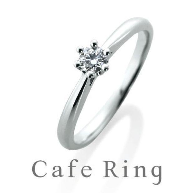 【BROOCH(ブローチ)】【フレーズ】ミルククラウン(美しい王冠)のスタンダードな婚約指輪