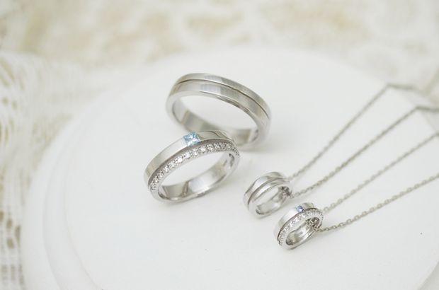 【ジュエリー東京】「スウィートブルーダイヤモンド」 M's 1239038 / L's 1239037
