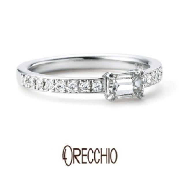 【GRACIS(グラシス)】<Siena>エメラルドカットダイヤの透明な輝き×メレダイヤの煌びやかな輝き