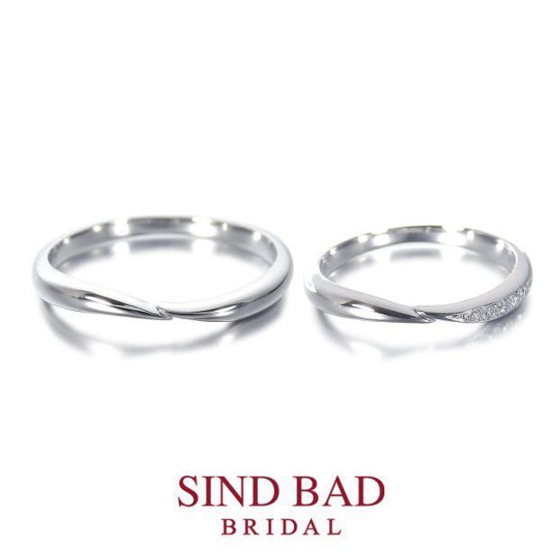 【SIND BAD(シンドバット)】結婚指輪【君睦(きみちか)】手と手を取り合う仲睦まじい二人をイメージ