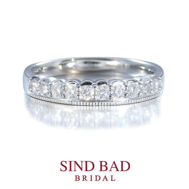 【SIND BAD(シンドバット)】【Tiara Eternity ティアラ エタニティ】ティアラ型ハーフエタニティ