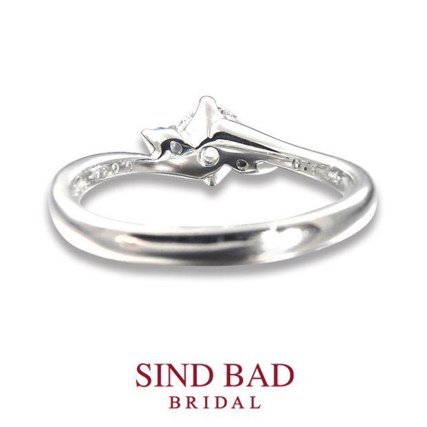 【SIND BAD(シンドバット)】婚約指輪【深海(みお)】深愛なる貴方と、いつまでも  サンタマリアアクアマリン