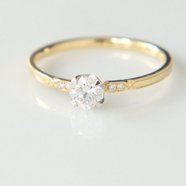 【Fuligoshed(フーリゴシェド)】フランダースカットダイヤモンド Melee diamonds ring
