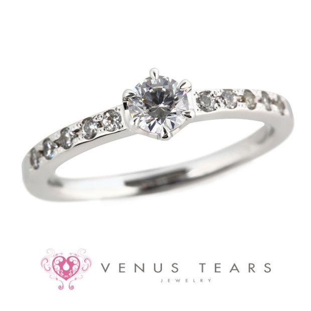 【VENUS TEARS(ヴィーナスティアーズ)】0.3ctダイヤ込価格Pt900【FES31-03】