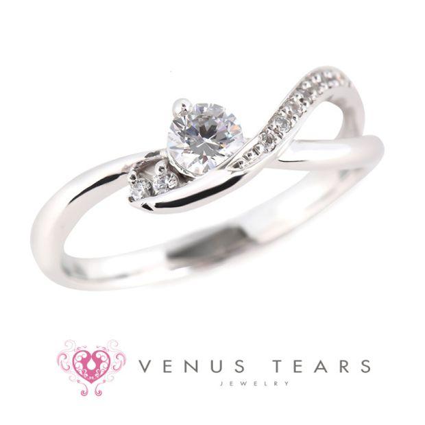 【VENUS TEARS(ヴィーナスティアーズ)】0.2ctダイヤ込価格Pt900【P5094-02】