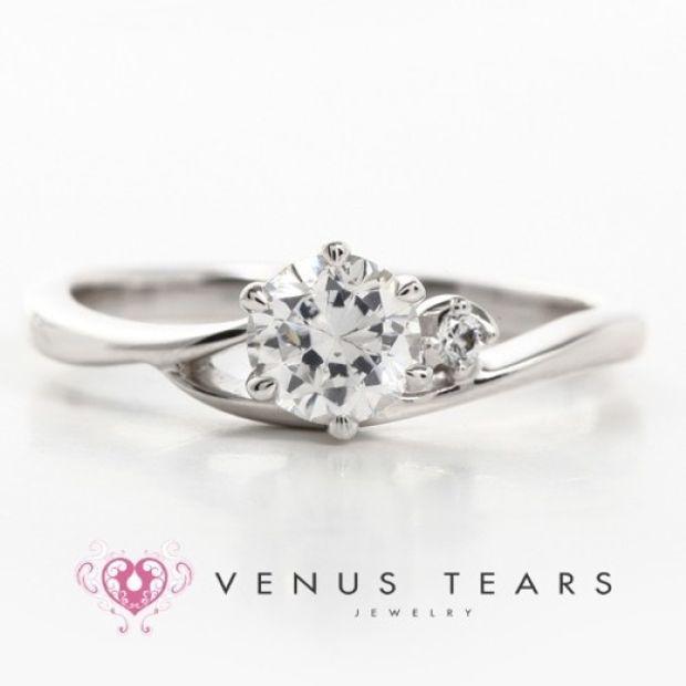 【VENUS TEARS(ヴィーナスティアーズ)】0.5ctダイヤ込価格Pt900【FW15-05】