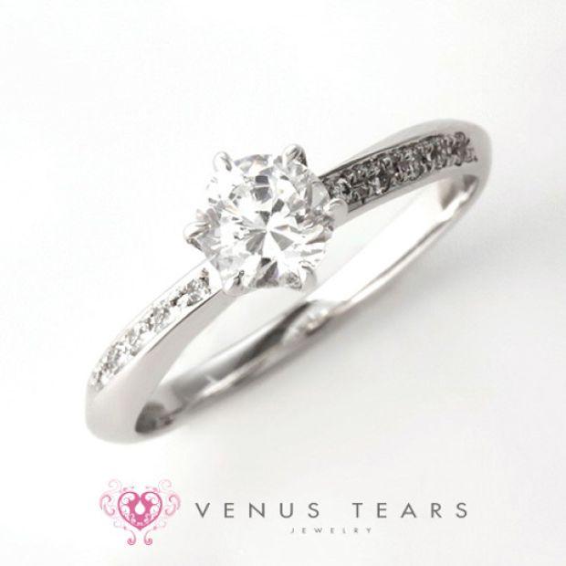 【VENUS TEARS(ヴィーナスティアーズ)】0.5ctダイヤ込価格Pt900【P417-05】