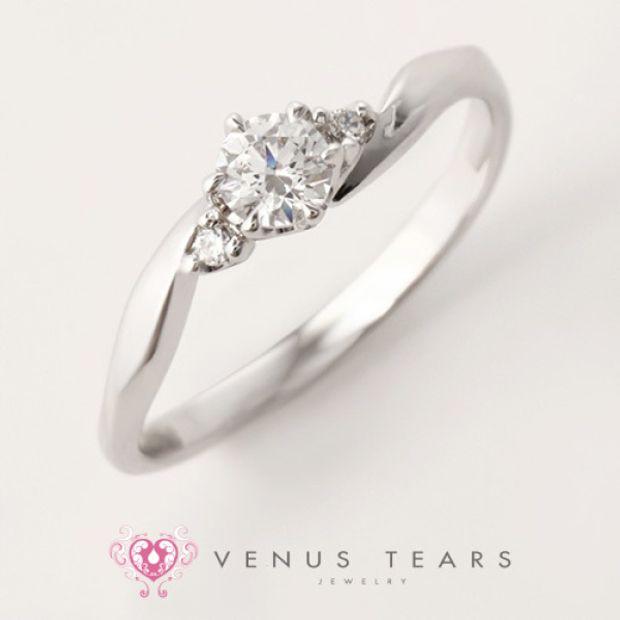 【VENUS TEARS(ヴィーナスティアーズ)】0.3ctダイヤ込価格Pt900【ALE3-02】