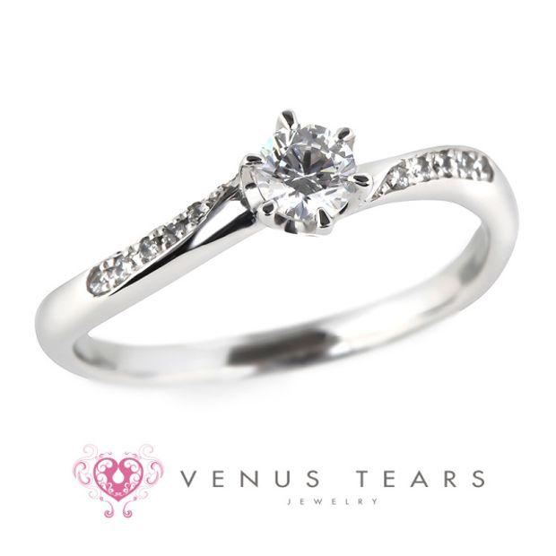 【VENUS TEARS(ヴィーナスティアーズ)】0.2ctダイヤ込価格Pt900【FES111-02】