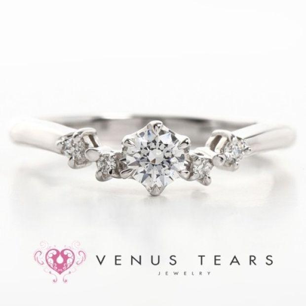 【VENUS TEARS(ヴィーナスティアーズ)】0.2ctダイヤ込価格Pt900【FES5-02】