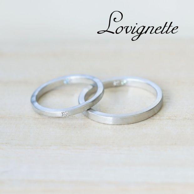 【Lovignette(ラヴィネット)】【セミオーダー】ループマリッジリング例1