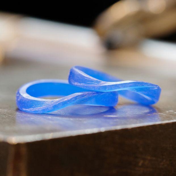 【サロン・ド・ルシェル】【手作り】ウェーブ&ねじりの結婚指輪
